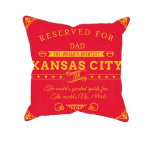 Kansas City Football Fan Personalized Printed Pillow Case