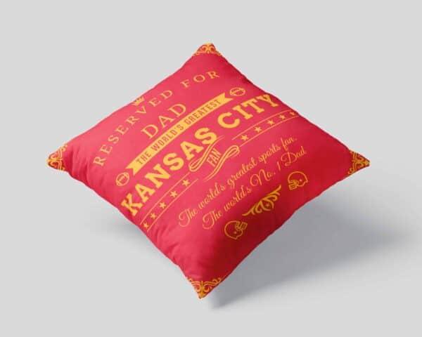 Kansas City Football Fan Personalized Printed Pillow Case view1