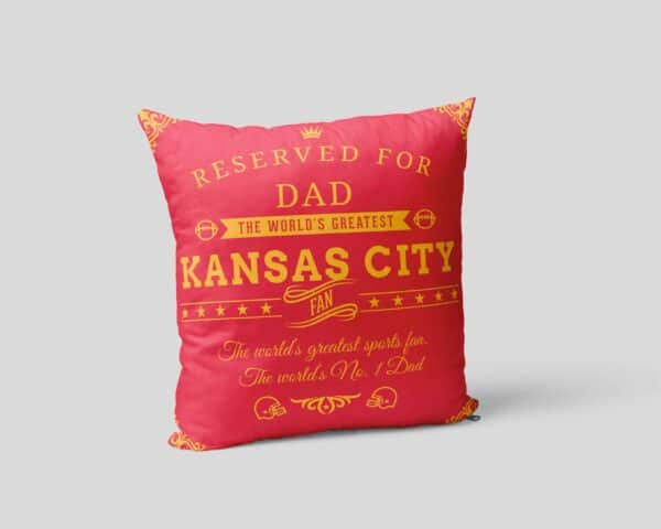 Kansas City Football Fan Personalized Printed Pillow Case view 2