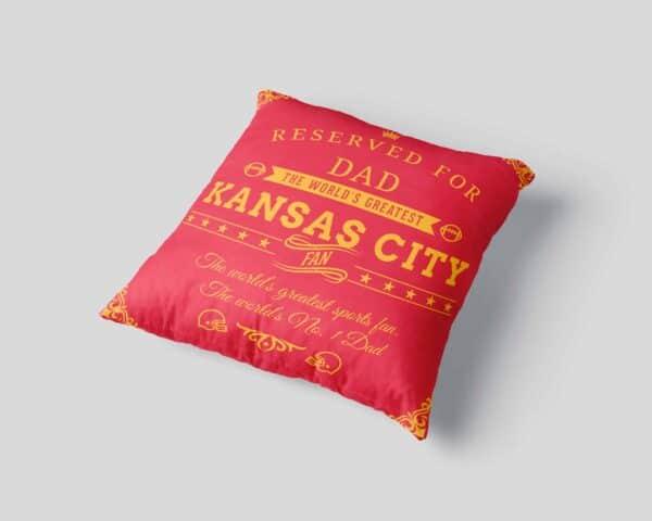 Kansas City Football Fan Personalized Printed Pillow Case view3
