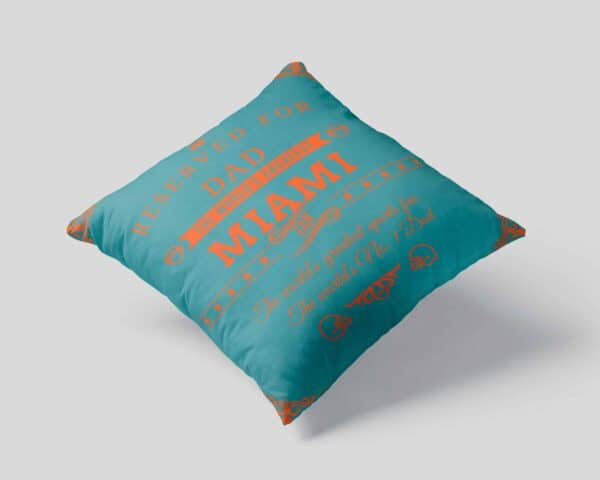Miami Football Fan Personalized Printed Pillow Case