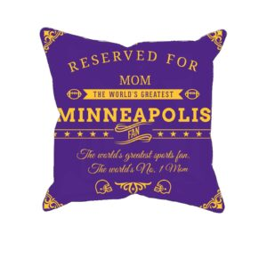 Personalized Printed Minneapolis Football Fan Pillow Case
