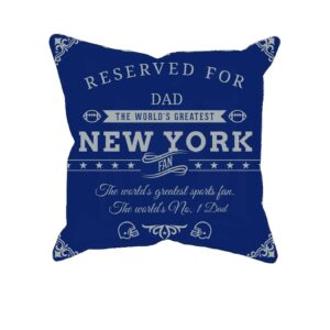 New York Football Sports Fan Personalized Printed Pillow Case