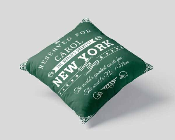 New York Football Fan Personalized Printed Pillow Case view1