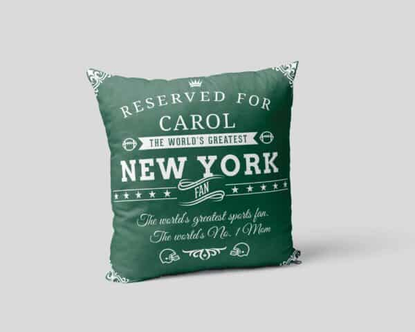 New York Football Fan Personalized Printed Pillow Case view2
