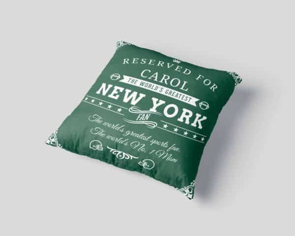 New York Football Fan Personalized Printed Pillow Case view3