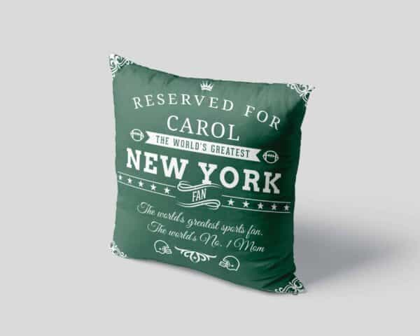 New York Football Fan Personalized Printed Pillow Case view4