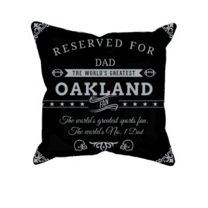 Oakland Football Fan Personalized Printed Pillow Case