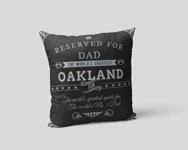 Oakland Football Fan Personalized Printed Pillow Case pillow mockup View2