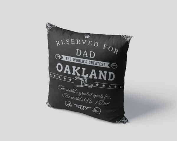 Oakland Football Fan Personalized Printed Pillow Case pillow mockup View 4