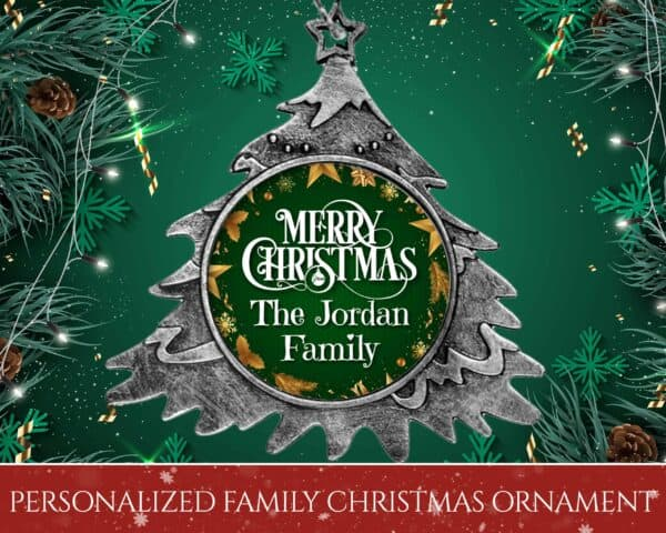 Personalized Christmas Tree Ornament – Merry Christmas From