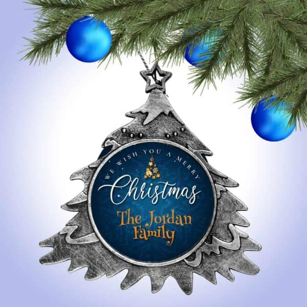 Personalized Christmas Tree Ornament – We Wish You A Merry Christmas