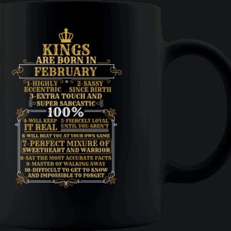 Personalized Kings Are Born Coffee Mug Design