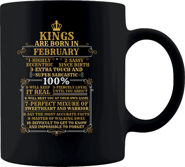 Personalized Kings Are Born Coffee Mug Design