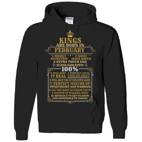 Personalized Kings Are Born Hoodie Design Black
