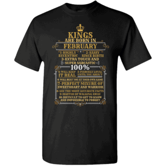Personalized Kings Are Born T-Shirt Design Black