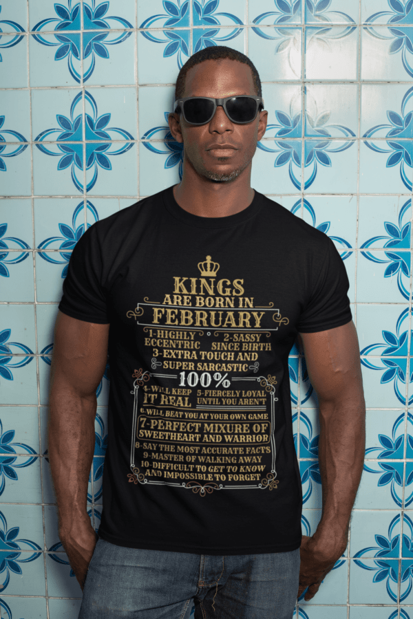 Personalized Kings Are Born T-Shirt Design