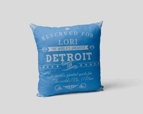 Personalized PrintedDetroit Football Fan Pillow Case