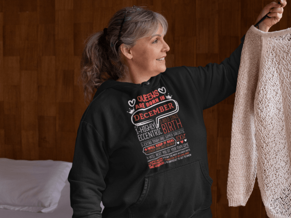 Personalized Printed Hoodie Queens Are Born Design