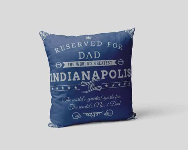 Personalized Printed Indianapolis Football Fan Pillow Case pillow mockup View 2