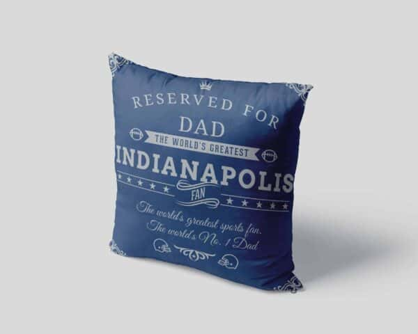 Personalized Printed Indianapolis Football Fan Pillow Case pillow mockup View 4