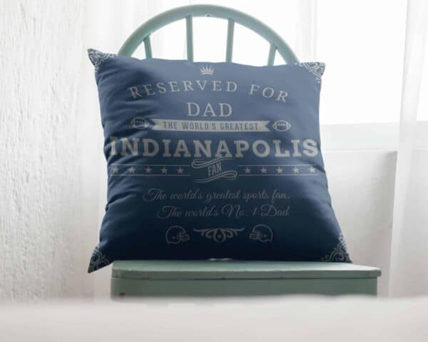 Personalized Printed Indianapolis Football Fan Pillow Case