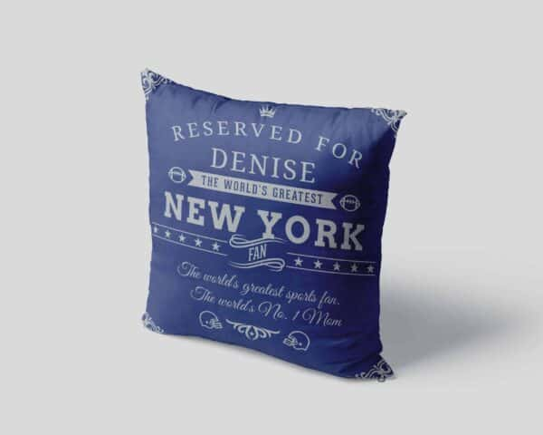 Personalized Printed New York Football Fan Pillow Case