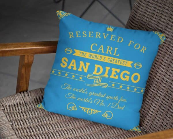Personalized Printed San Diego Football Fan Pillow Case pillow mockup View