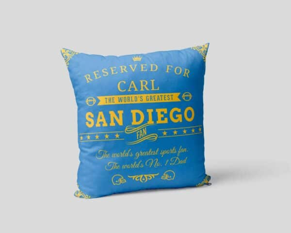Personalized Printed San Diego Football Fan Pillow Case pillow mockup View 2