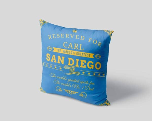 Personalized Printed San Diego Football Fan Pillow Case pillow mockup View 4