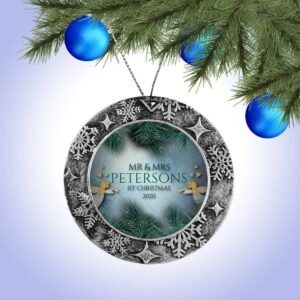 Personalized Round ornament - First Christmas