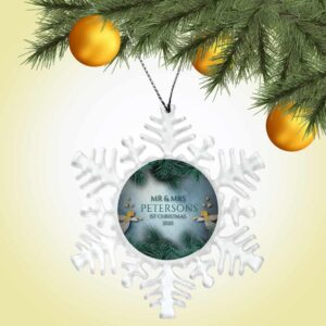 Personalized Snowflake Ornament – First Christmas