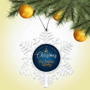 Personalized Snowflake Ornament - We Wish You A Merry Christmas