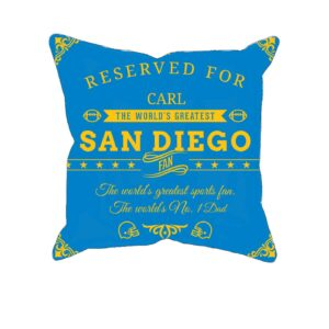 San Diego Football Fan Personalized Printed Pillow Case