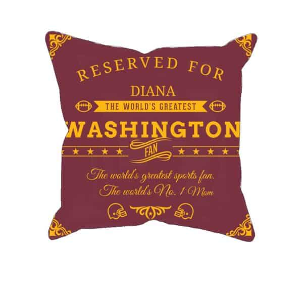 Washington Football Fan Personalized Printed Pillow Case