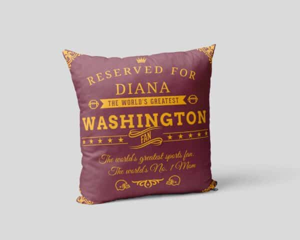 Washington Football Fan Personalized Printed Pillow Case pillow mockup View 2