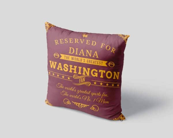 Washington Football Fan Personalized Printed Pillow Case pillow mockup View 4