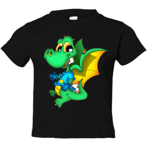 Dinosaur Dragon on Toddler T-Shirt Black