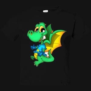 Dinosaur Dragon on Toddler T-Shirt Black