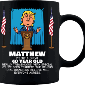 Trump Personalized Custom Printed Coffee Mug Everyone Agrees Black