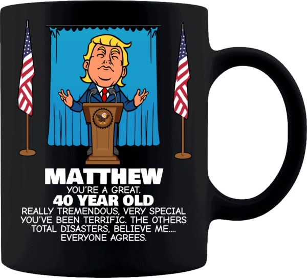 Trump Personalized Custom Printed Coffee Mug Everyone Agrees Black