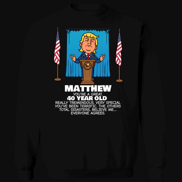 Everyone Agrees - Trump Personalized Printed Crewneck Sweat Shirt Black