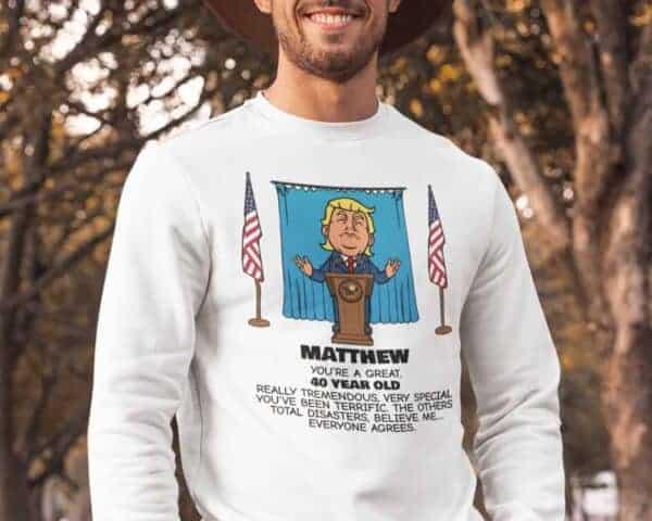 Everyone Agrees - Trump Personalized Printed Crewneck Sweat Shirt View 2