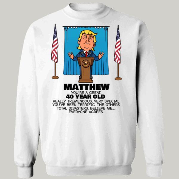Everyone Agrees - Trump Personalized Printed Crewneck Sweat Shirt White