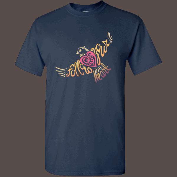 Follow Your Heart T-Shirt Design Navy