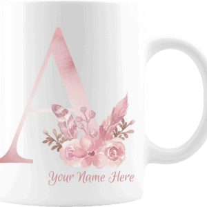 Personalized Monogram Letter A on 11 oz Mug