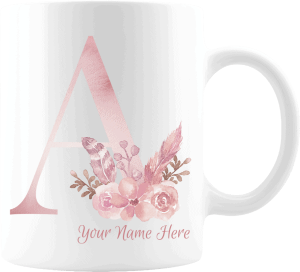 Personalized Monogram Letter A on 11 oz Mug