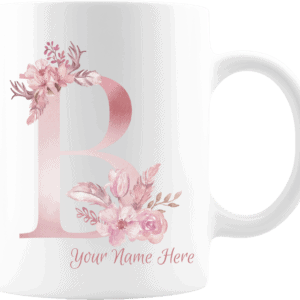 Personalized Monogram Letter B on 11 oz Mug