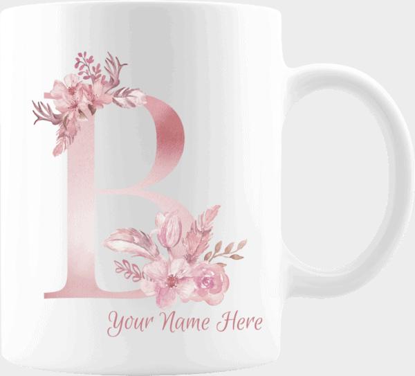 Personalized Monogram Letter B on 11 oz Mug