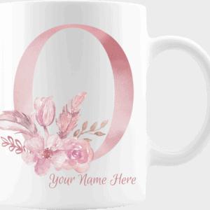 Personalized Monogram Letter O on 11 oz Mug White